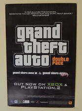 RARE Rockstar Games Grand Theft Auto GTA III Vice City Promo Poster