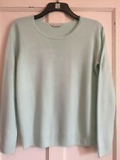 Ladies Mint Green Soft Feel Long Sleeved Jumper Size 16 Approx