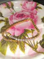 "10 Ct Round Cut White Moissanite Wedding Tennis Bracelet 7"" 14k Yellow Gold Over"