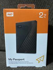 WD - My Passport 2TB External USB 3.0 Portable Hard Drive w/ Hardware Encryption
