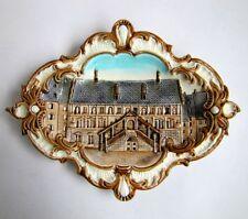 Plaque Murale Mulhouse Hotel de Ville Barbotine WS&S WILHELM SCHILLER & SON XIXe