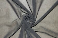 Charcoal Power Mesh 4 Way Stretch Nylon Lycra Spandex Dance Swimwear Fabric BTY