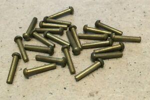 3/32 inch dia x 1/2 inch long Round Head Brass Rivets.