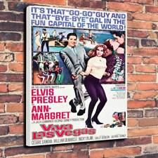 "Elvis Presley Printed Canvas Picture A1.30""x20"" Deep 30mm Frame Viva Las Vegas"