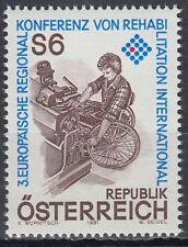 Austria Austria 1981 ** mi.1667 rehabilitación silla de ruedas wheelchair