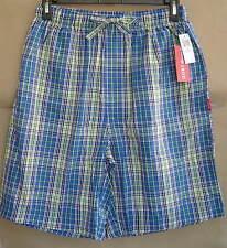 NWT IZOD Mens L 36 38 OASIS PLAID Woven Sleep Shorts Cotton Pajamas