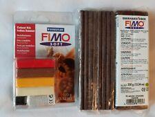 Lotto stock 2 FIMO Soft cioccolato 350 gr + 1 Kit Fimo Sodt Indian Summer NUOVI