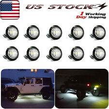 10x Led Rock Lights For Jeep Truck Off-Road Car Atv Utv Underbody White Light