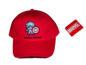 Marvel Avengers Kawaii Captain America Boys Girls Kids Children's cotton hat