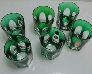 6 Becher Römer Nachtmann Antika grün Whiskyglas Whiskybecher (D)