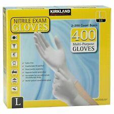 Kirkland Signature 400 Count Nitrile Gloves Size Large