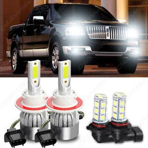 For Lincoln Mark LT 2006-2008 LED Headlight High/Low + Fog Light 4PC Bulbs 6000K
