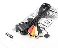 Xtenzi Replacement Video Cable with Front USB Compatible with Multimedia Receivers