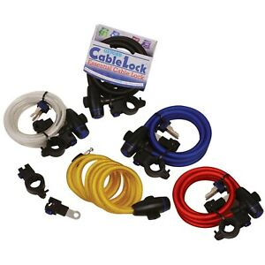 Oxford Cable Lock Bike Cycle Coil Loop Cable Lock With Seat Post Bracket