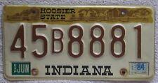 Indiana 1984 LAKE COUNTY License Plate NICE QUALITY # 45B8881