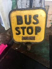 Antique Cast Iron Buffalo New York 🚌 Bus Stop Sign.  Probably 1930's.  Heavy