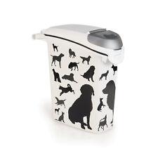 Conteneur d'alimentation 10kg Curver Dogs Black design moderne