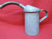 Vintage  2 Qt. Liquid Oil Filler Can With Handle
