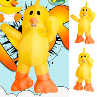 Adults Kids Inflatable Duck Mascot Costume Cosplay Halloween Party Outfits US