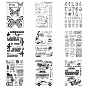 Merry Christmas Car Silicone/clear Stamps Diy Scrapbooking Paper Cards Crafts