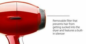 Elchim 8th Sense Hair Dryer (Red Replacement Filter Only )
