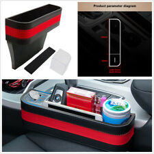 Universal PU Leather Car Seat Gap Storagebox Armrest Storage Organizer Black Red