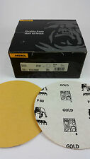 100 x MIRKA Gold Schleifscheiben, sk selbstklebend, P 80 - Ø150 mm - ungelocht