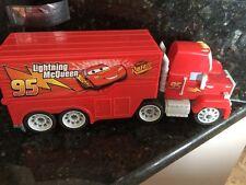 DISNEY CARS MOVIE RED SEMI TRUCK LIGHTNING MCQUEEN  TRACK