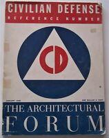 Architectural Forum Jan. 1942 Civilian Defense Issue Blackouts Air Raid Shelters