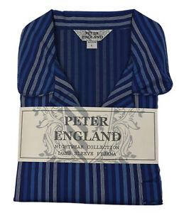 Peter England Navy Satin Stripe Pyjama