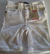 Levi's Toddler Girl Bermuda 3t jeans white sparkling buttons cute NWT new