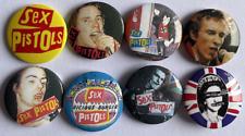 SEX PISTOLS Set of 8 Button Badges - English Punk Rock Band - 25mm Pins