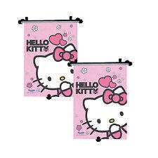 2 x véritable sanrio hello kitty voiture sun shade rouleau fenêtre store for kids