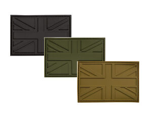 Tactical / stealth military Union Jack UJ  patch Green Black or Coyote tan