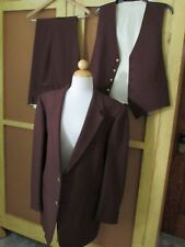 Vintage Men's Brown 3pc Suit Jacket Pants Vest Geoffrey Beene Waist 40 Jacket 44