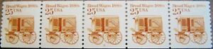 Bread Wagon Transportation Coil MNH PNC5 Strip of 5 PL #5 Scott 2136