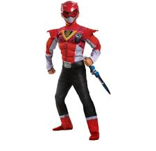 Beast Morphers Red Power Ranger Muscle Size S 4/6 Boys Costume Disguise