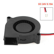 New 2 Pin Connector Brushless DC 24V 0.15A Turbo Blower Cooling Fan