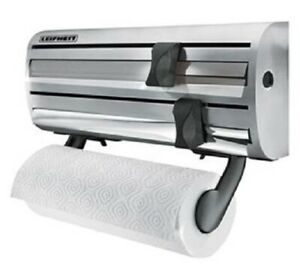Leifheit WALL-MOUNTED 3-IN-1 ROLL HOLDER 38x6x16cm Stainless Steel