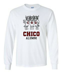 Chico State Alumni Vintage 1980's Drinking Wildcats Long Sleeve T-Shirt