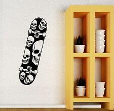 Wall Decal Skate Skull Skateboard Extreme Sports Teen Mural Vinyl Decal (ig2703)