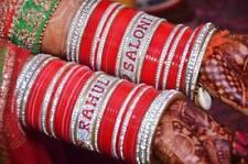 Rajwadi Dulhan Set Wedding CZ Red Chura Bangle Bridal Set  Acrylic Plastic
