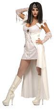 Halloween Fancy Dress Costume ~ Blanco SACERDOTISA GÓTICO Medium 10-12