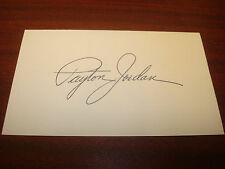 Payton Jordan 1968 Us Olympic Track & Field Coach Signed 3x5 Index Card Auto M7