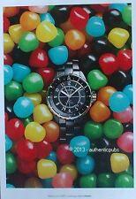 PUBLICITE CHANEL MONTRE J 12 GMT DRAGIBUS BONBON SWEET DE 2012 FRENCH AD WATCH