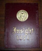 1971 Insights Wayne Community College Goldsboro  North Carolina Yearbook