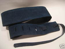 UNIQUE  NAVY SUEDE LEATHER DESIGNER GUITAR STRAP