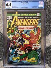 Avengers #134 CGC 4.5 White Pages - Presents Excellent Bronze Age Origin Vision!