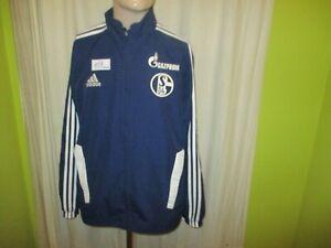 """FC Schalke 04 Adidas Spieler Freizeit- Trainingsanzug Jacke 11/12 """"GAZPROM"""" Gr.L"""