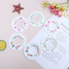6pcs Flower Round Child Clothes Size Dividers Plastic Ring Size Label Suppv6